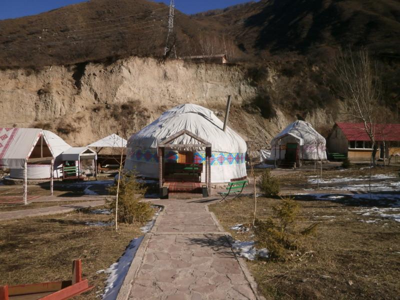 Pro Kazachstán typické jurty