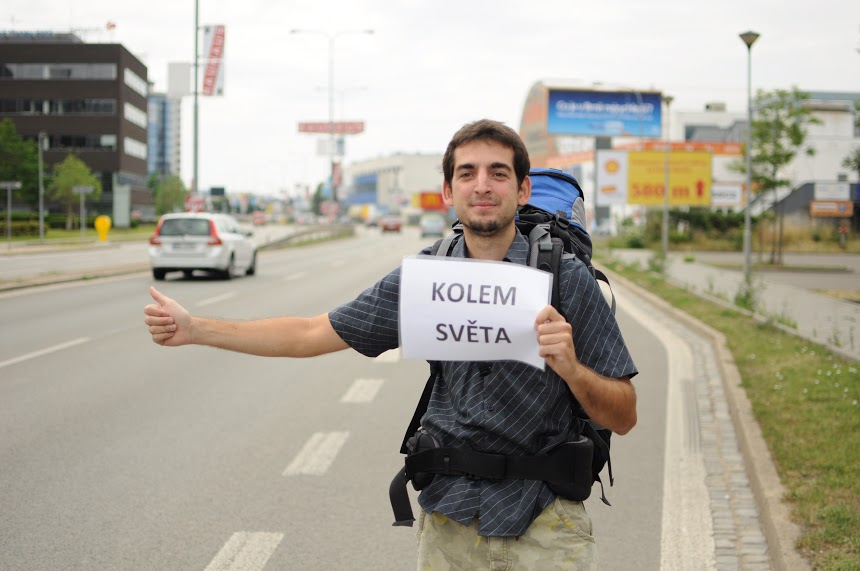 Pavel Klega, cesta kolem světa, stopování, dobrodružství