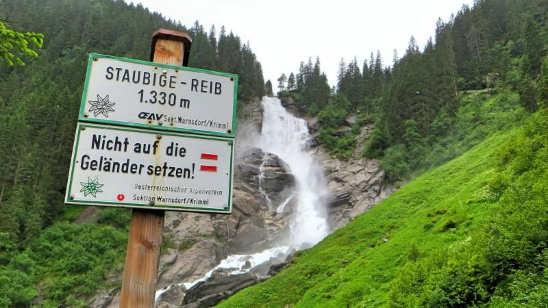 Značení - Krimmelské vodopády, Rakousko
