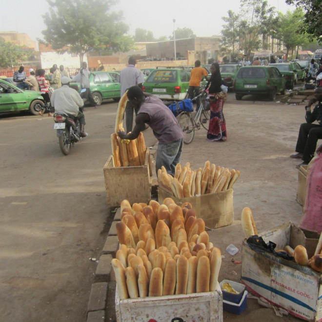 Bageta- typická pro Burkinu Faso