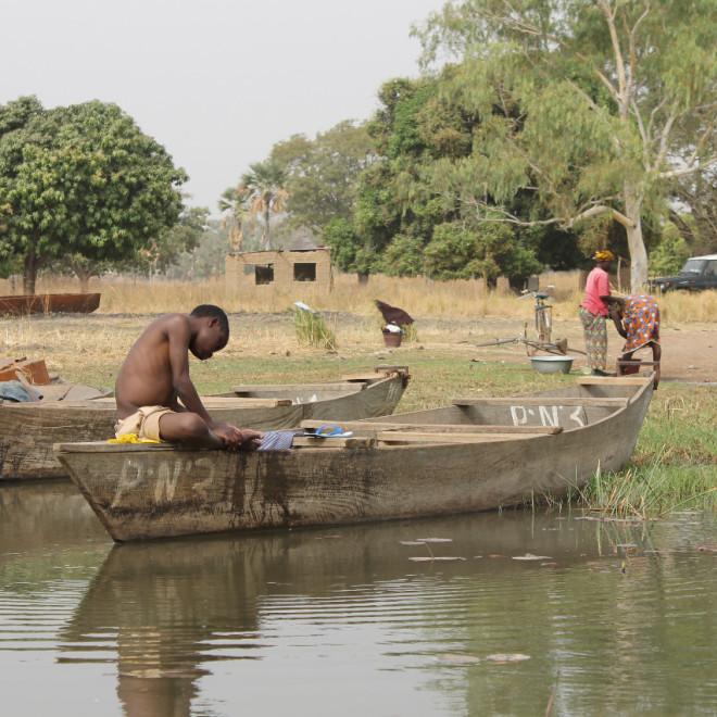 Jezero Tengrela v Burkina Faso