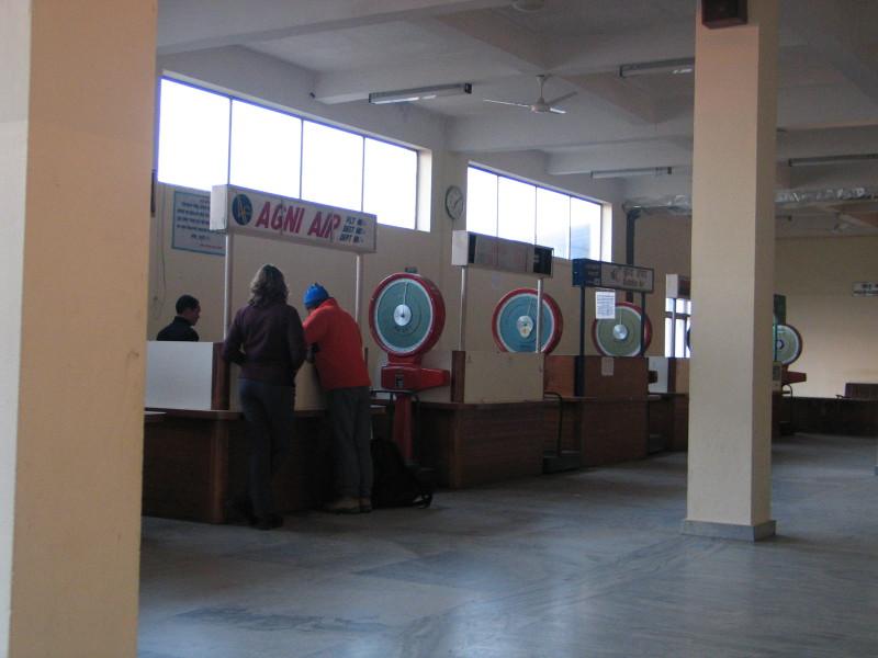 Letiště v Pokhaře příliš moderní není.