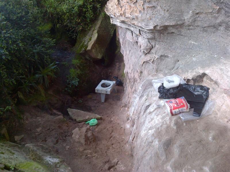 WC v přírodě - Venezuela