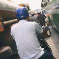 Řidič skůtru v Saigonu