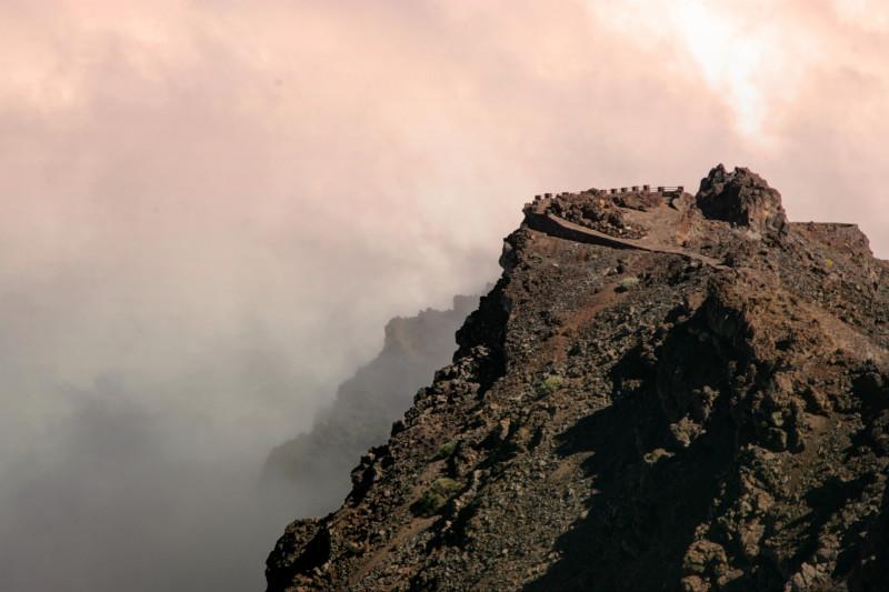 Pohled na vyhlídku vrcholu Roque de los Muchachos, La Palma (foto:Martin Nesiba)