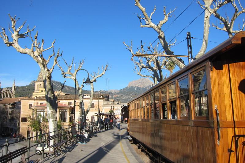 Historický vlak, Sóller, Mallorca