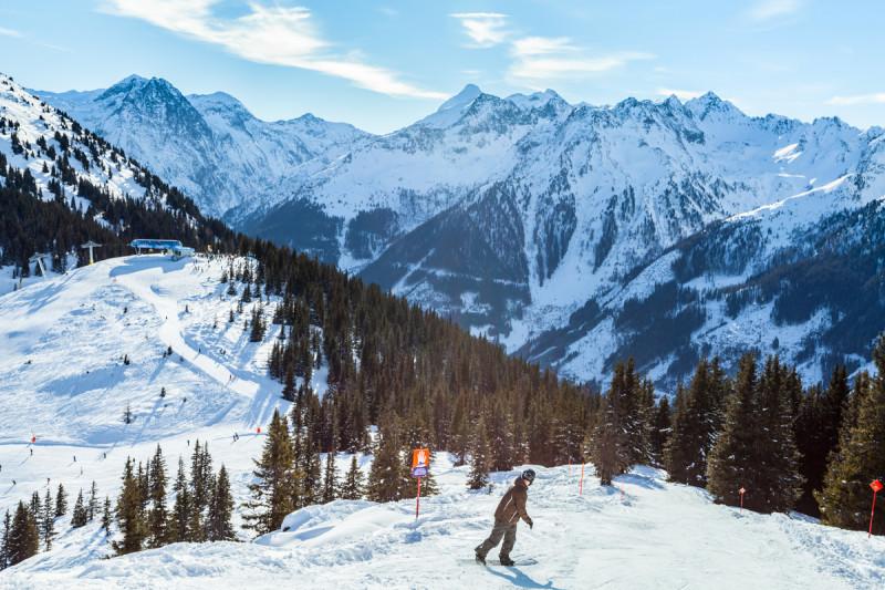Lyžování v Alpách v Rakousku