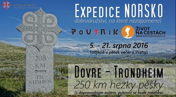Expedice NORSKO 2016 – hezky pěšky