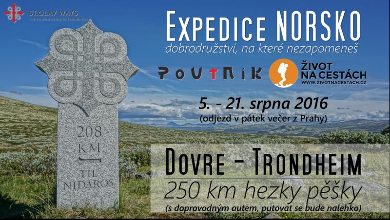 Expedice Norsko 2016 - dobrodružství, na které nezapomeneš