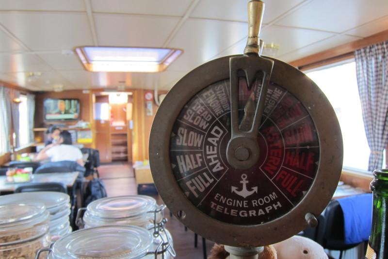 Byť je tato loď zcela provozuschopná, toto zařízení už asi majitelé nepoužívají