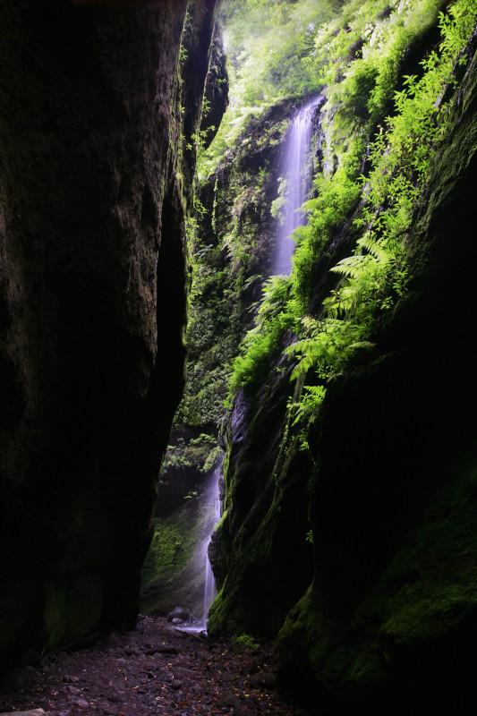 Vodopád v Los sauces, La Palma, Kanárské ostrovy.