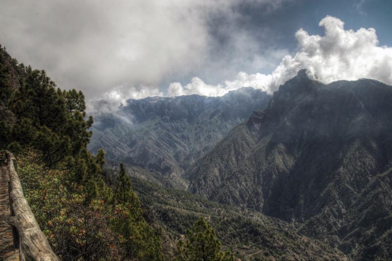Caldera Taburiente 2, La Palma, Kanárské ostrovy.