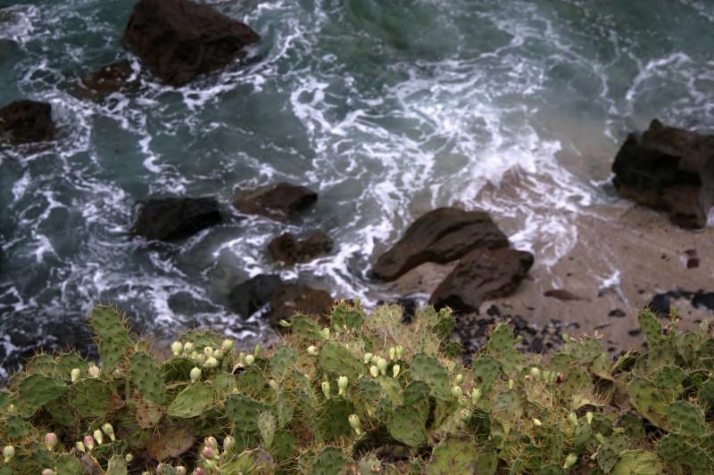 Nepřístupná pláž na ostrově La Palma.