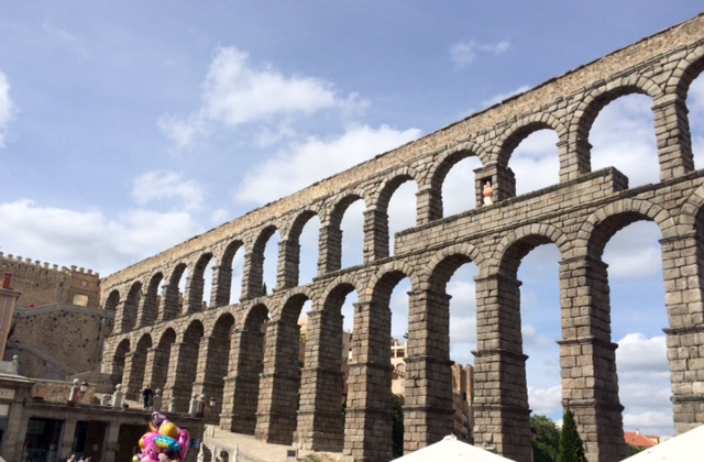 Akvadukt ve městě Segovia, Španělsko