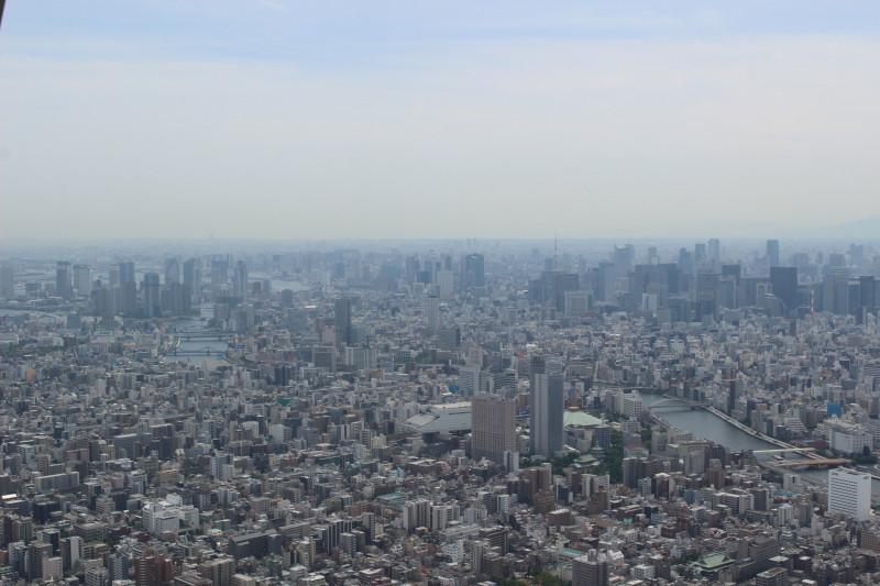 Výhled ze Skytree Tower