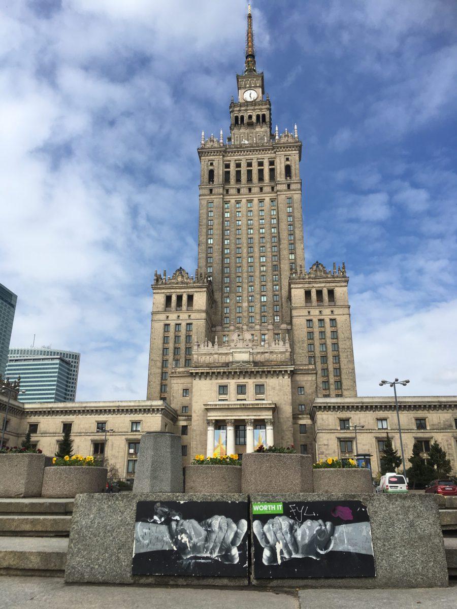 Palác kultury a vědy - nejznámější varšavská stavba