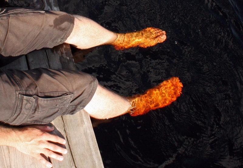 Riisa Rabarada - červená voda v jezírku