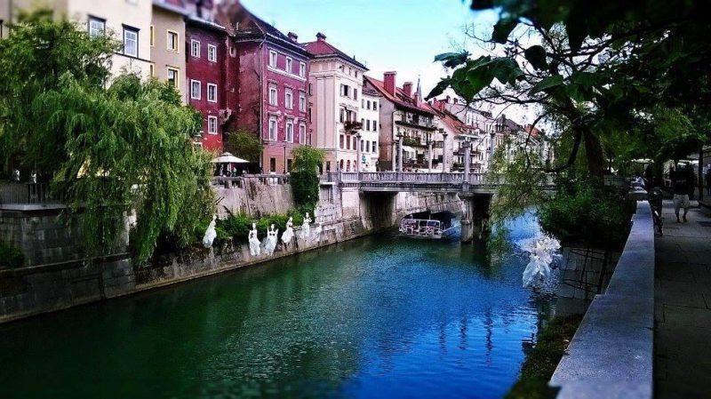 Slovinsko – co by to bylo za hlavní město bez řeky v jeho centru. Autor: Anna Krejčíková.