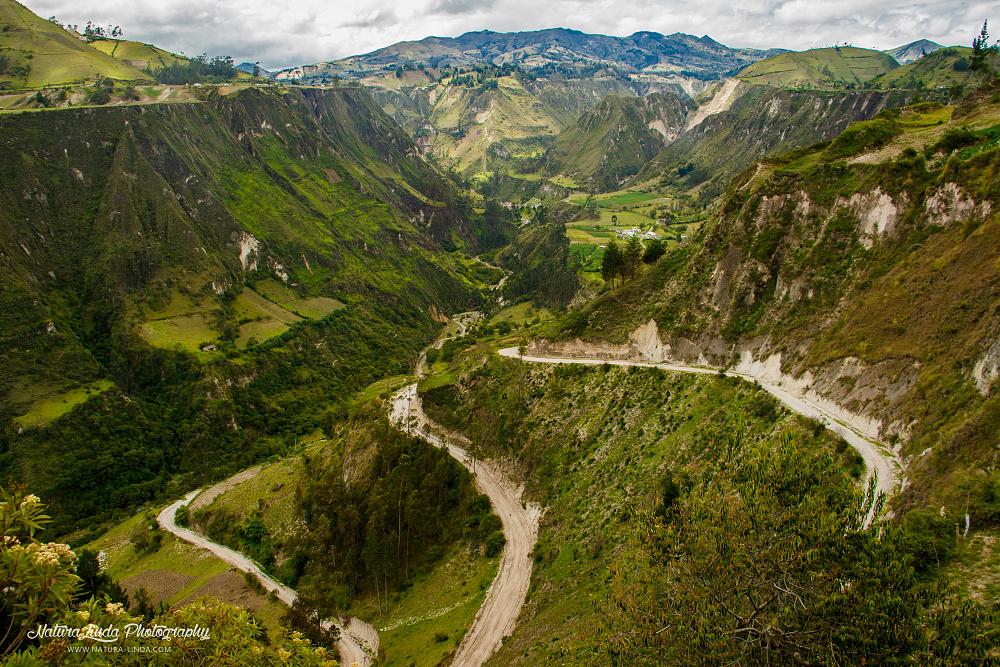 podhorská krajina Ekvádoru