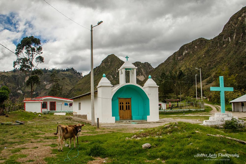 podhorská vesnička Ekvádoru