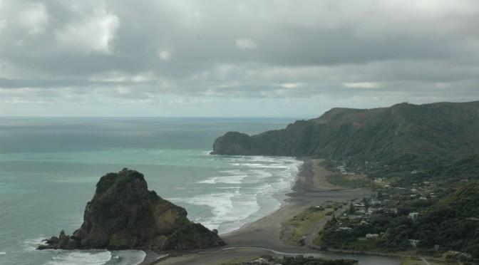 Piha Beach, Nový Zéland