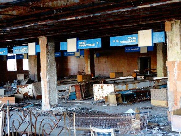 obchod naproti Polissya hotelu