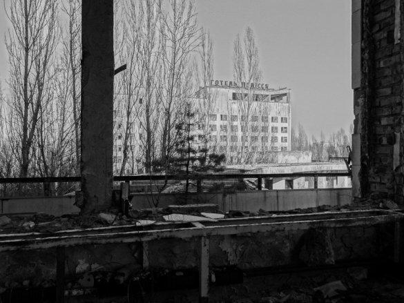 Polissya hotel z prvního patra domu kultury
