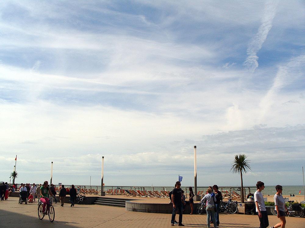 Oostende, promenáda