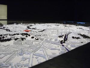 Papírový model centra města Gent v Belgii, STAM