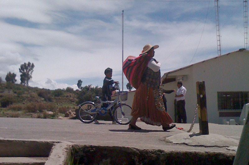 Hraniční přechod do Bolívie pro pěší.