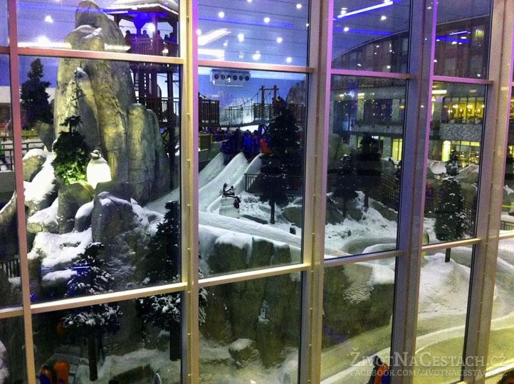 Mall of the Emirates - část sáňkařské dráhy
