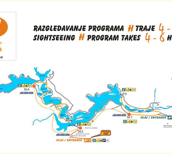 Národní park Plitvická jezera - trasa H