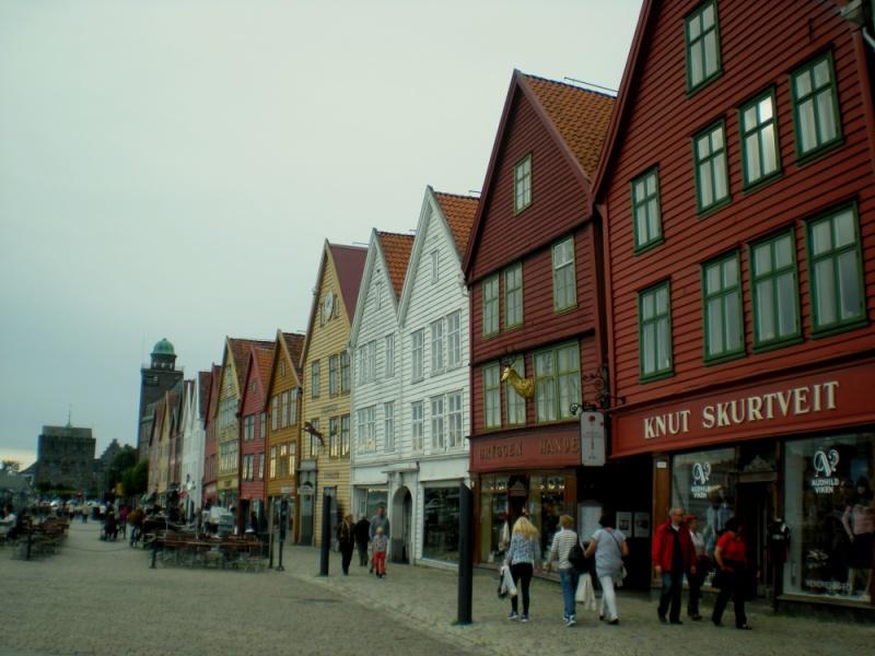 Bryggen - nejstarší čtvrť Bergenu