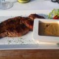 Restaurant De Witte Leeuw - steak z hovězí svíčkové