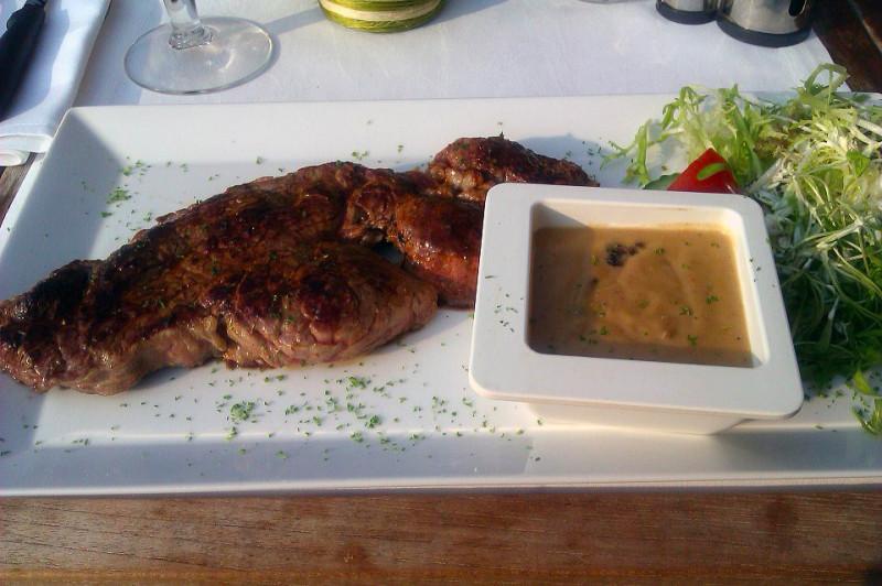 Restaurant De Witte Leeuw - Entrecote (Rib Eye Steak)