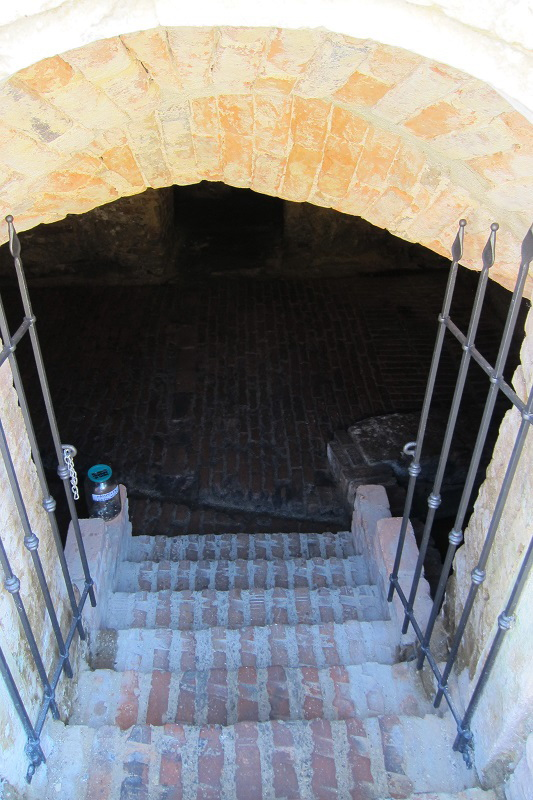 Vstup do mikve - rituální lázně (dům U Templu č. 3/5)