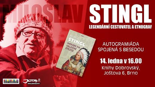 Miloslav Stingl – autogramiáda spojená s besedou, Knihy Dobrovský, Brno