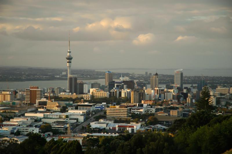 Pohled na Auckland z Mount Eden