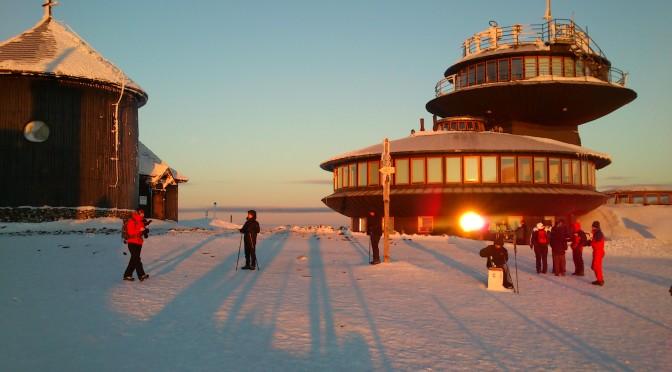 Sněžka za východu slunce