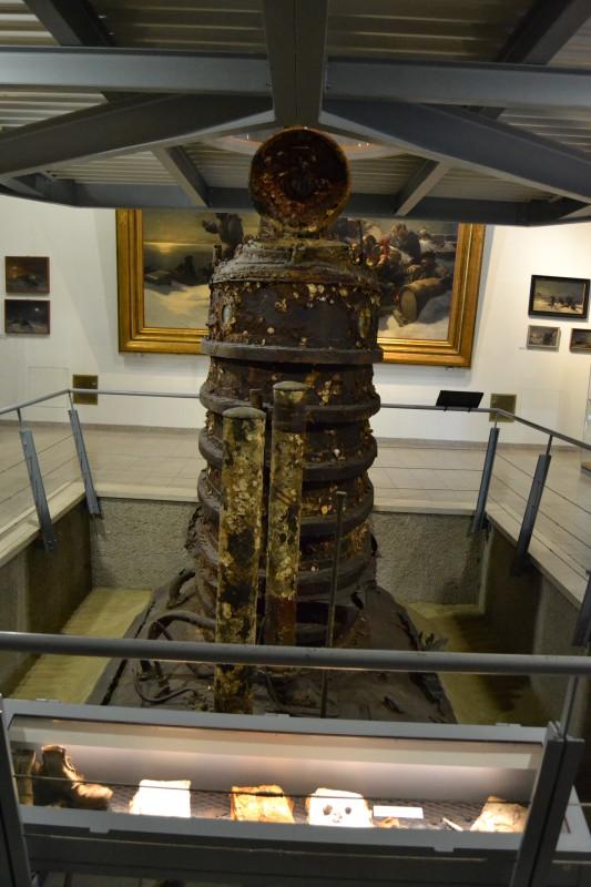 Ponorka U-20. Asi nejzajímavější exponát muzea.