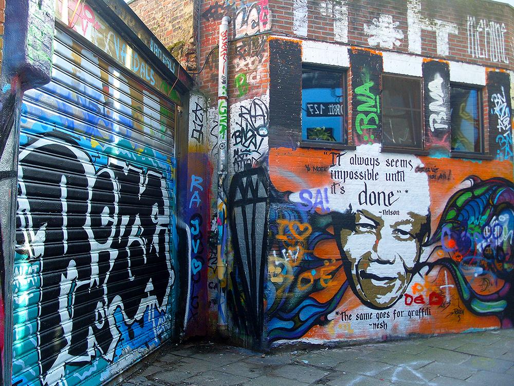 Graffitistraatje Gent - Graffiti street Gent