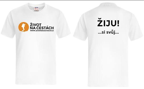 Tričko Žiju si svůj ŽivotNaCestách.cz