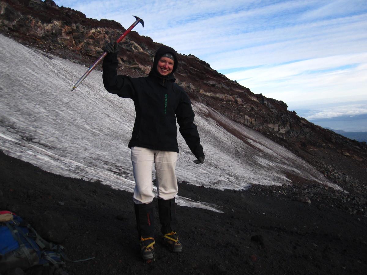 Příprava na chůzi po ledovci.