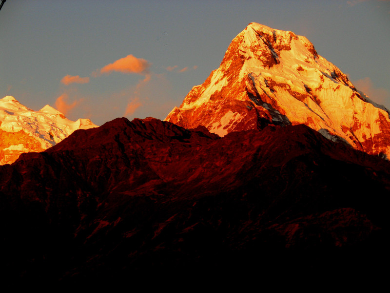 Annapurna South z Ghorepani.