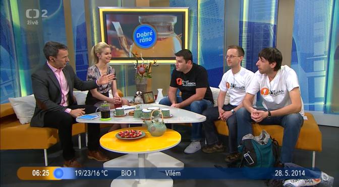 ŽivotNaCestách.cz jako host České televize v pořadu Dobré ráno