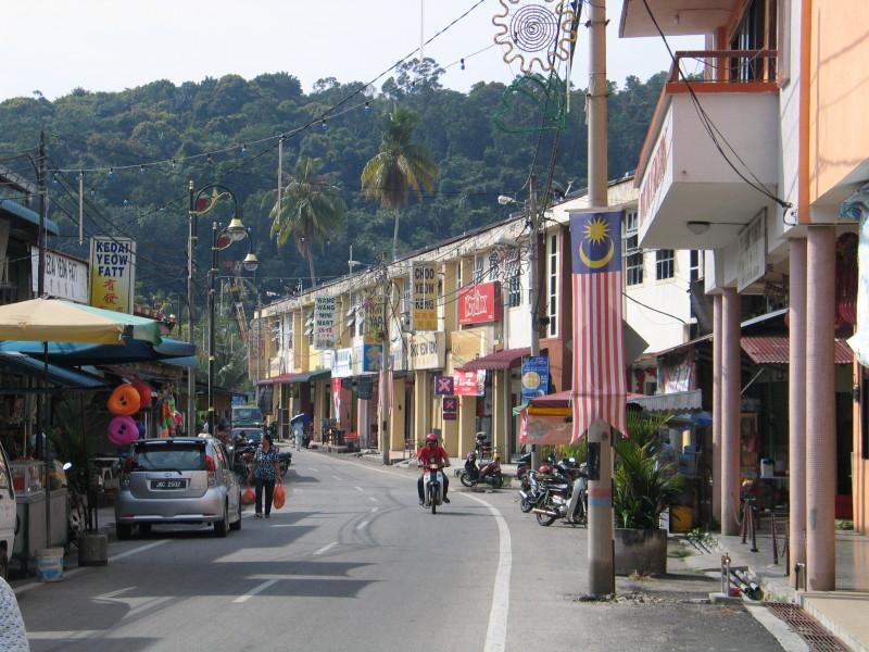 Město Pangkor.