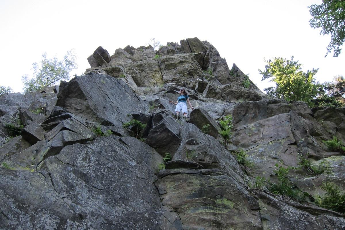 Malý Rabštejn - lokalita využívaná horolezci
