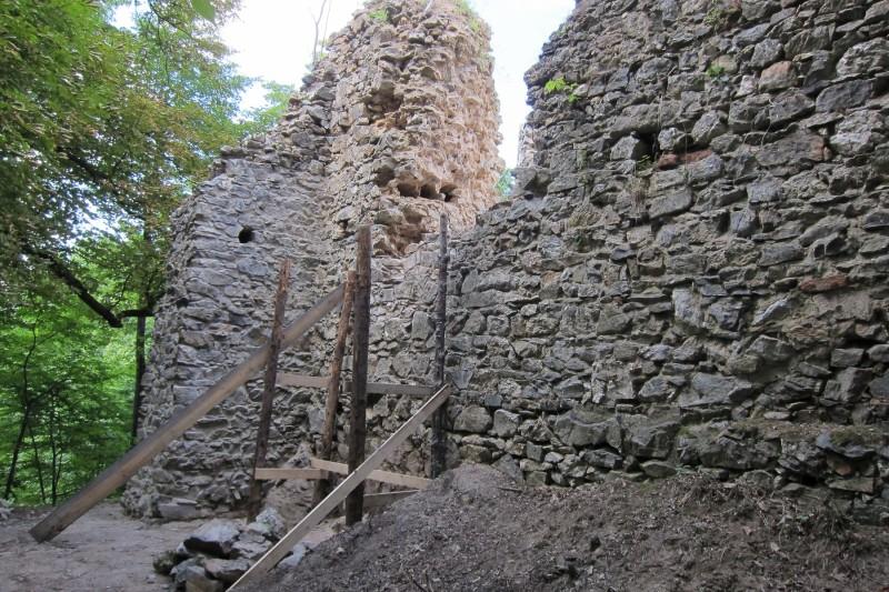 Údržba hradu Rabštejnek