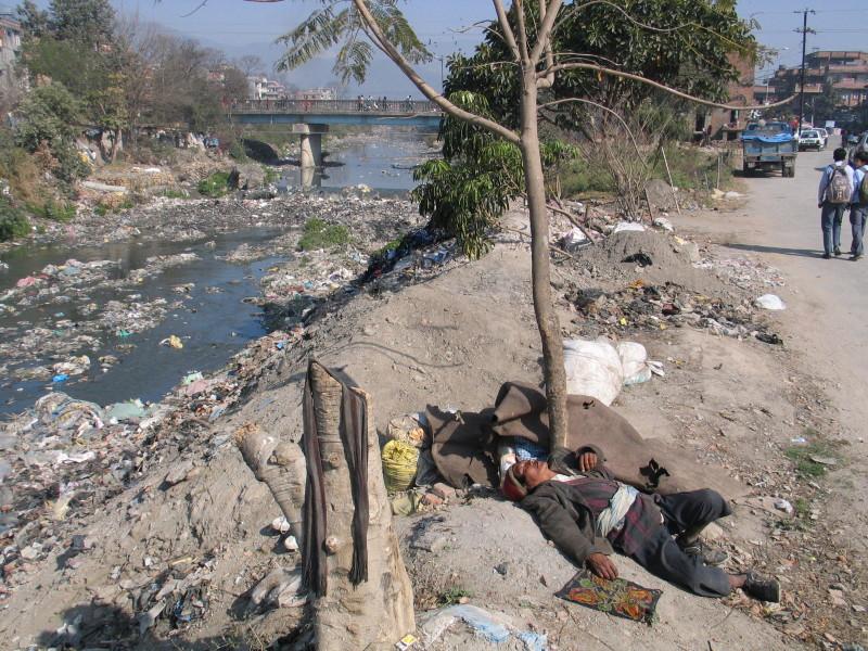 Svatá řeka Bishnumati.
