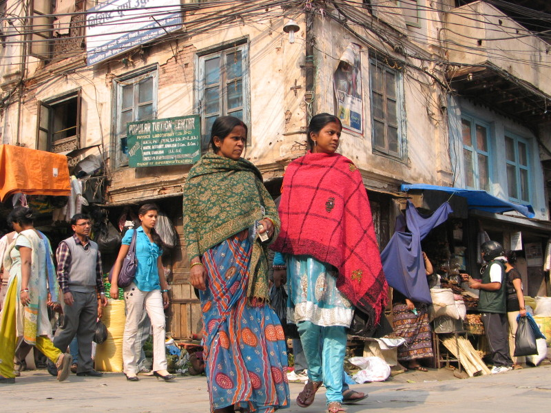 V ulicích. Káthmándú, Nepál